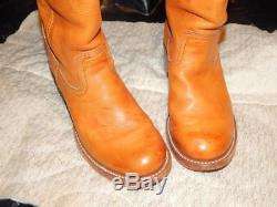 FRYE Campus Riding Boot Leather Women Tall Boots Sz 10 Pull On Round toe Boots