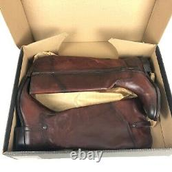 FRYE Melissa Tab Tall Extended Calf Womens sz 9 Leather Riding Boot Redwood NEW
