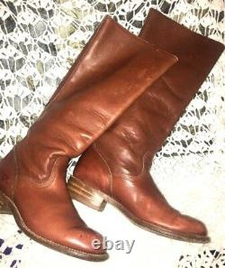 FRYE Women's 6750 Tall Campus Riding Leather SZ 7 Boot