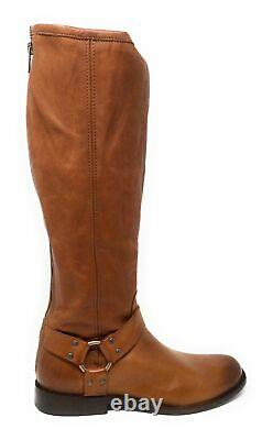 FRYE Womens Phillip Harness Tall Extend Riding Boots Whiskey Leather Size 8 M US