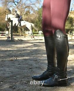 Fabbri horse riding boots extra tall size 40 perfect for 39 (US 9). Calf S