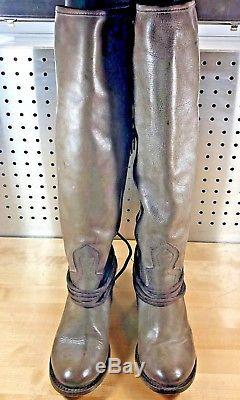 Freebird By Steven Coal Knee High Riding Boots Womens Size 7 Olive Brown Rustic