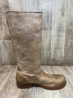 Frye Boots Size 9 Veronica Tan Beige Slouch Pull On Tall Riding Boot CALF #76608