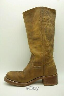Frye Campus Brown Textured Leather Tall Western Riding Boots Womens 8 M