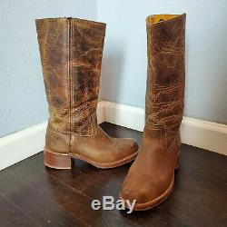Frye Campus Distressed Brown Western Riding Boots Women's 8