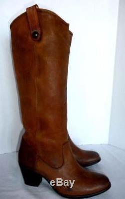 Frye Jackie Button Pull On Women's Brown Tall Riding Boots Size 9 B #76575 $398