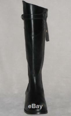 Frye MOLLY Button Tall Wide Calf Extended RIDING Boot Women Black MSP$398 NEW