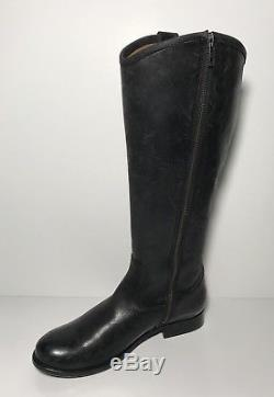 Frye Melissa Button Black Washed Antique Leather Riding Boots Womens Size 7 B