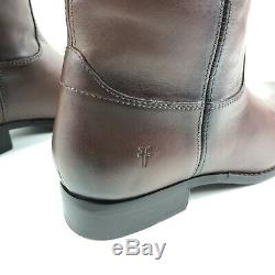 Frye Melissa Button Tall Riding Leather Boots Redwood Brown Women Size 7.5