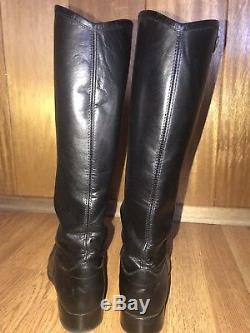 Frye Melissa Button Womens Leather Black Riding Boots Size 6.5 Style 75447