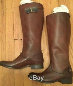 Frye Melissa Rear Zip Riding Equestrian Tall Boots 9M Extended Calf (NWOB) 9M