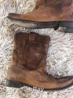 Frye Paige Short Riding Boots Tan Brown Women's Size 11