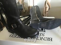 Frye Veronica Strap Womens Tall Black Leather Riding Boots 7m $498