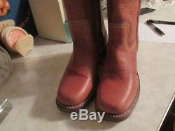 Frye Women's Campus Stitching Horse Boots Style #77370-SDL Size 7 in saddle