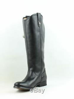 Frye Womens Melissa Black Wide Calf Smooth Vintage Leather-77167 Riding Boots