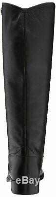 Frye Womens Melissa Button 2 Almond Toe Knee High Riding Boots, Black, Size 8.5