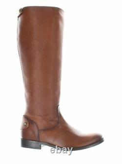 Frye Womens Melissa Button Cognac Smooth Vintage Leather Riding Boots Size 6