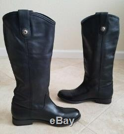 Frye Womens Melissa Button Riding Leather Boots Size 9 B Black