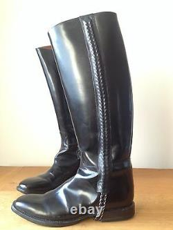 GIVENCHY Black Leather Riding Boots size 40.5