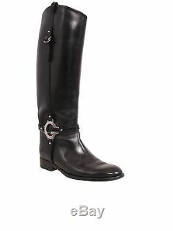 GUCCI Black Leather Riding Boots (SIZE 39)