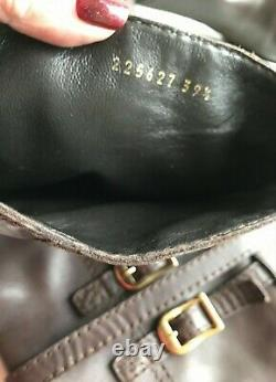 GUCCI Devendra Boots 39.5 (US 9,5-10) Riding boots, Brown, Authentic $1400