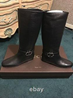Gucci GG Tall Riding Boots size 8