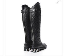 Gucci Microguccissima Knee High Riding Boots 38.5