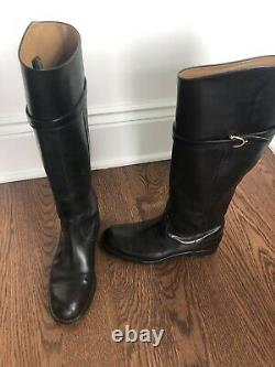 Gucci Tall leather Black Riding Boots Sz 38.5