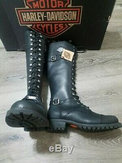 Harley-Davidson D83856 Women's Beechwood 15 Motorcycle Riding Boot Black size 8