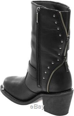 Harley-Davidson Women's Rosanne Waterproof Motorcycle Black Leather Boot D87127