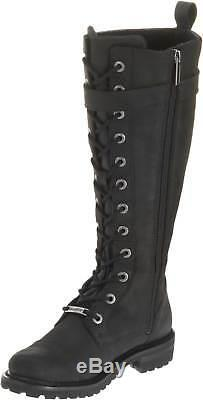 Harley-Davidson Women's Savannah Black Leather 14-Inch Motorcycle Boots D81489