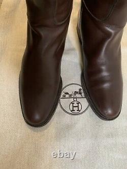 Hermes Kelly Jumping Boots 38.5 5.5 Designer Luxury Blogger Classic