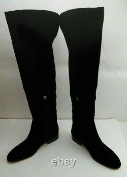 J Crew Over The Knee Suede Troy Riding Boots Black Size 11 K2741 FREE SHIPPING