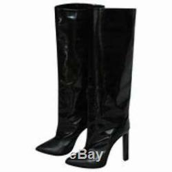 Jimmy Choo Derive Womens Tall Black Leather Boots Booties Size 35.5