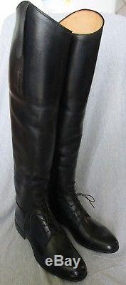 Ladies E Vogel Custom Made Black Leather Equestrian Riding Boots-Size-8 1/2