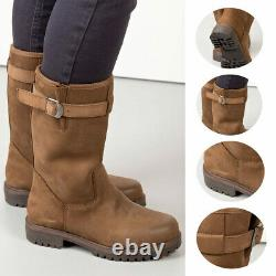 Ladies Leather Suede Boots Farm Yard Rydale Women's Equestrian Footwear Shoes