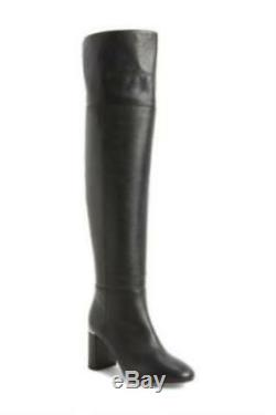 Lewit Renata Black Leather Over the Knee OTK Boots Tall Boots Womens Boots 38