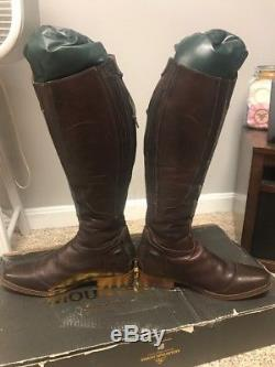 Lightly USED Mountain Horse Serengeti Brown & Tweed Tall English Riding Boots