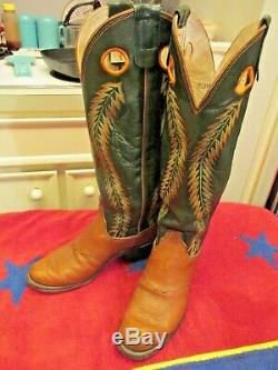 Lusky's Ryons Handcrafted Tall Buckaroo Riding Western Boots Mens 8.5 Women's 10