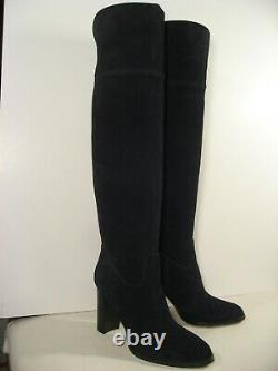 MICHAEL KORS Black Suede Leather Over-the-Knee High Heel Riding Boots size 12