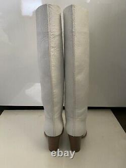 Marc By Marc Jacobs 4Tall White Crack-Leather Boots, Italy, Sz 37 Original $895
