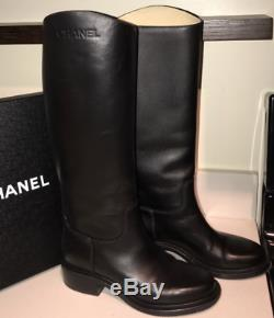 Mint Black Riding Chanel Boots