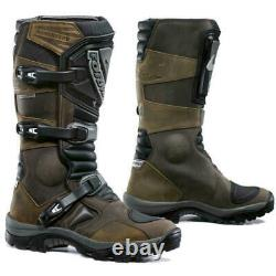 Motorcycle boots Forma Adventure UNBOXED brown waterproof adv touring riding