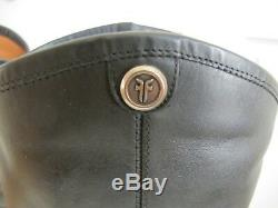 NEW $369 Women's Frye Melissa Button 2 Riding Boots Wide Extended Calf Black 11