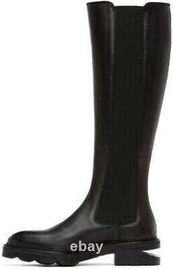 NEW $995 ALEXANDER WANG Andy Chelsea Riding Knee-High Black Boot 9 / 39 size
