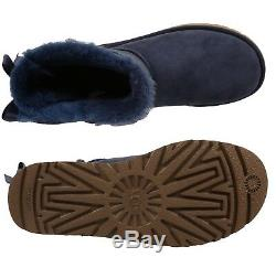NEW Authentic UGG Women's Bailey Bow II Winter Boots Shoes Black Chestnut Blue