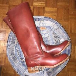 NEW FRYE Women's 6750 Tall Campus Riding Leather Boots SZ 7.5Brown Western moto