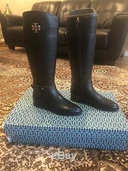 NEW IN BOX Tory Burch Women's Everly Knee High Riding Boot Black Size 9