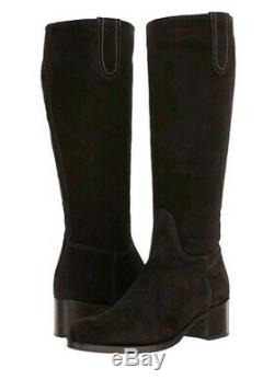 NEW La Canadienne POLLY Womens 8 M Brown Oiled Waterproof Suede Riding Boot $550