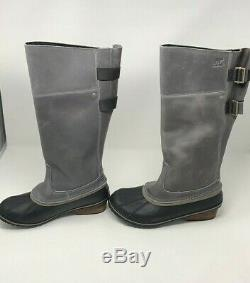 NEW SOREL Women's Slimpack­ Riding Tall II Boots Quarry Pebble Size 10